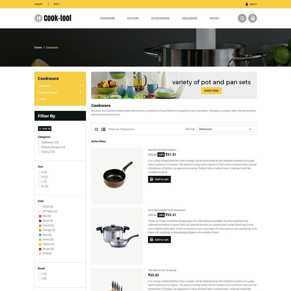 theme - Casa & Giardino - Strumento Cook - Negozio di cucina Art Decor - 6