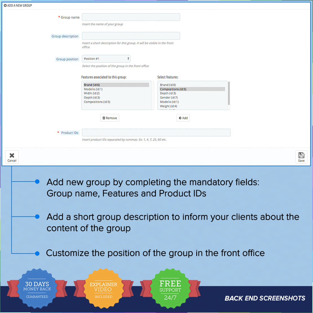 module - Customer Administration - Featured Groups PRO - 4