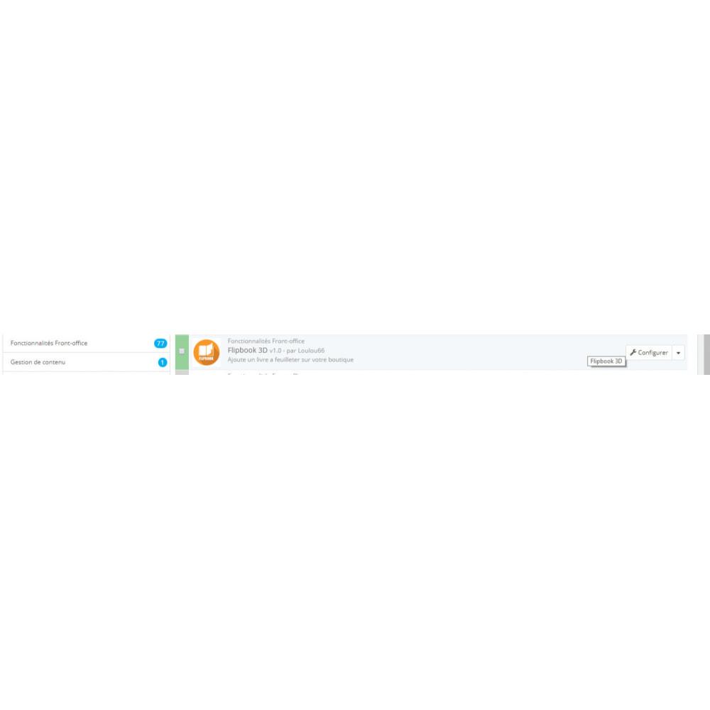 module - Visuels des produits - Flipbook 3D - 2