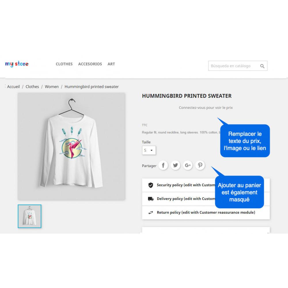 module - Inscription & Processus de commande - Masquer le Prix & Bouton Ajouter au Panier - 3