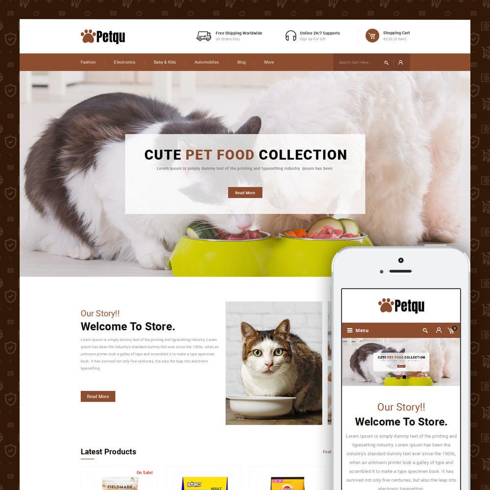 theme - Animais - Petqu - Pets Store - 1