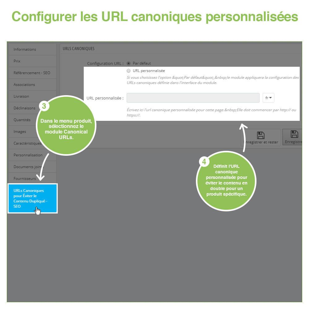 module - URL & Redirections - URL canoniques pour éviter les doublons - SEO - 12