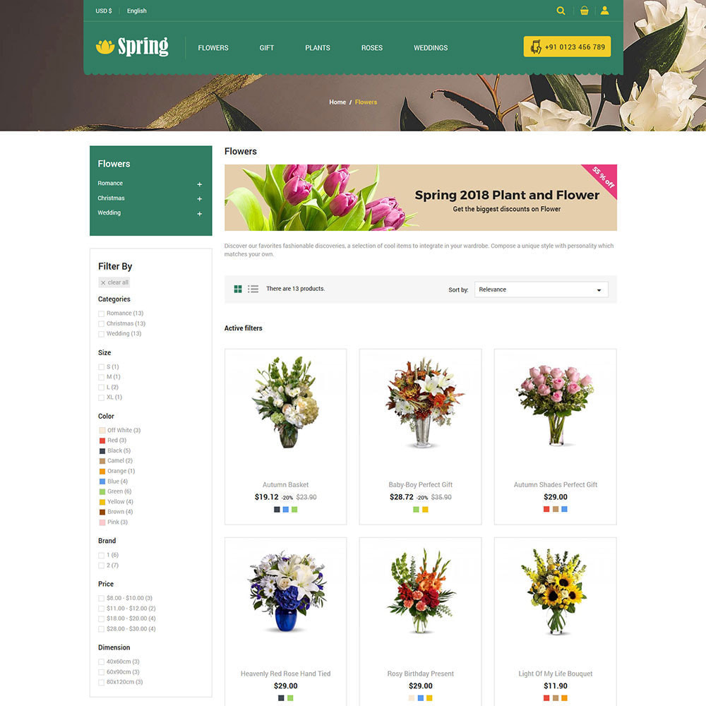 theme - Cadeaux, Fleurs et Fêtes - Fleur de printemps - Boutique de cadeaux Saint-Valentin - 5