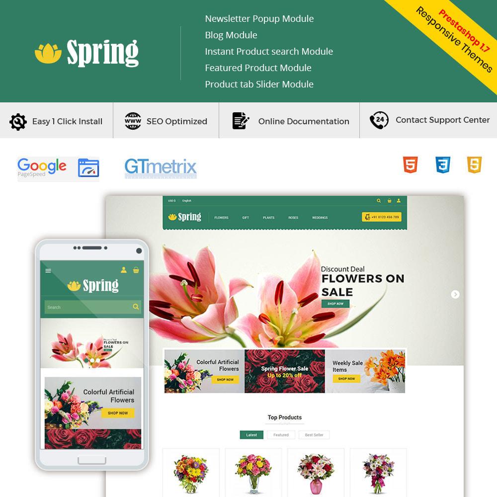 theme - Подарки, Цветы и праздничные товары - Весенний цветок - магазин подарков на День - 2