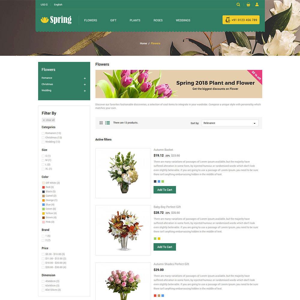 theme - Подарки, Цветы и праздничные товары - Весенний цветок - магазин подарков на День - 6