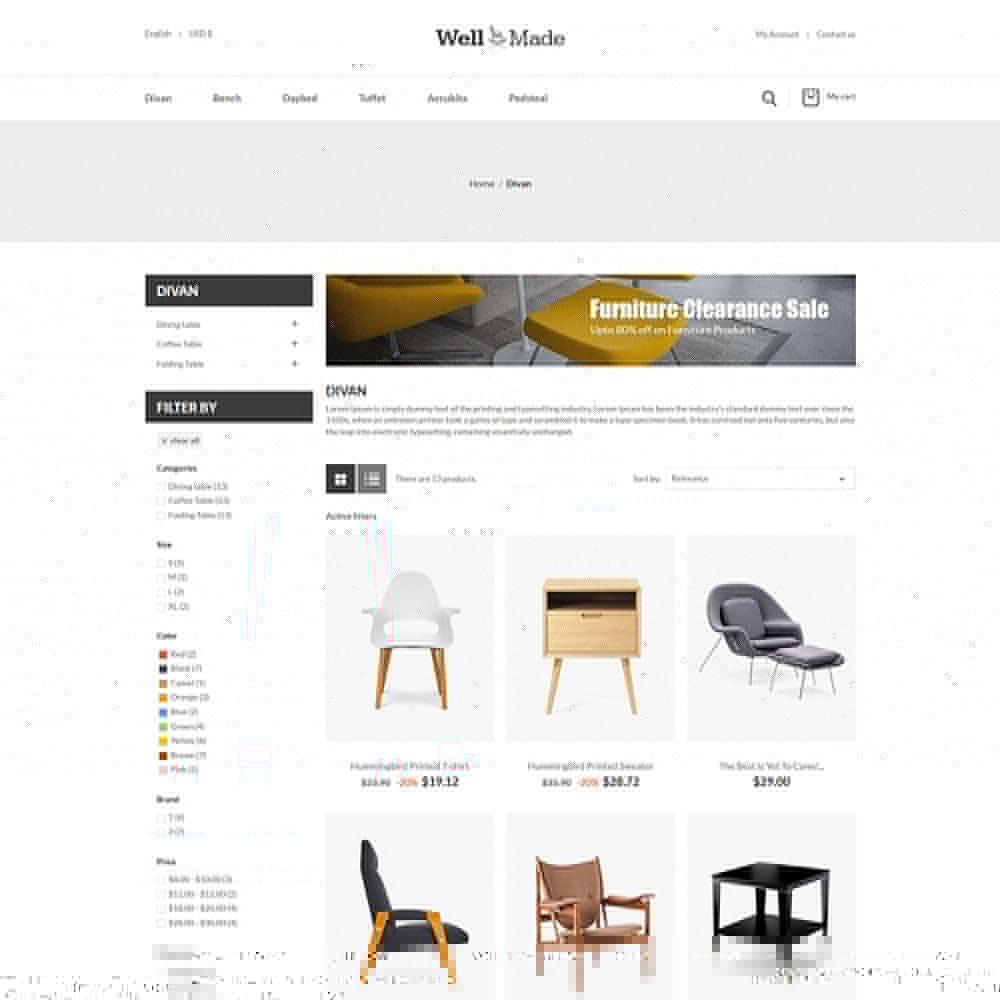 theme - Casa & Jardins - Móveis de interior - loja de decoração de cadeiras - 3