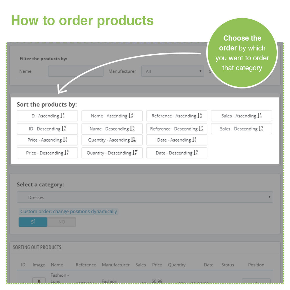 module - Snelle & seriematige bewerking - Sorting Out Products by Category - Display Order - 4