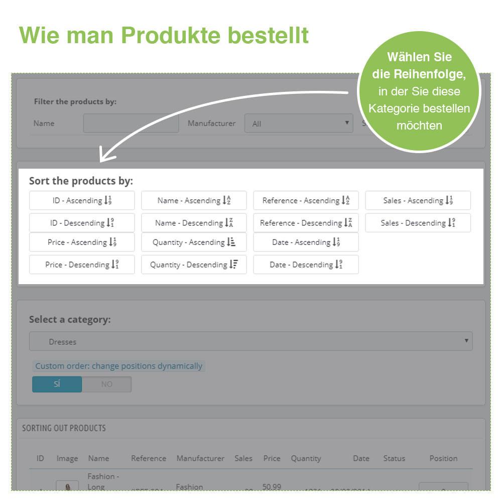 module - Quick Eingabe & Massendatenverwaltung - Sortierung der Produkte nach Kategorie - Bestellung - 4