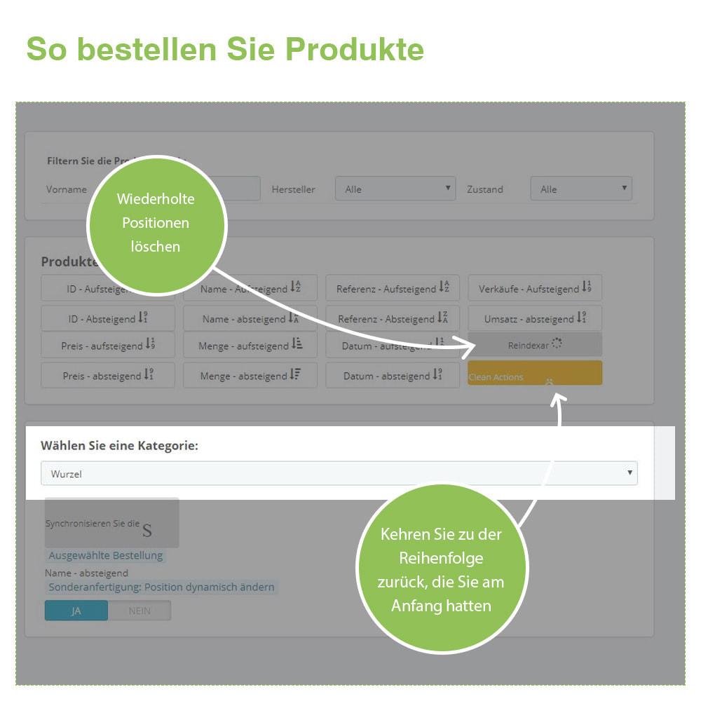 module - Quick Eingabe & Massendatenverwaltung - Sortierung der Produkte nach Kategorie - Bestellung - 6