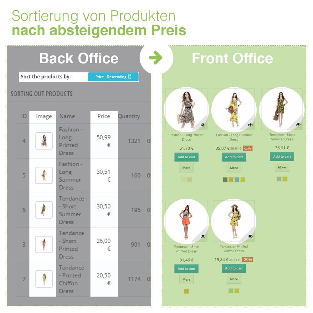 module - Quick Eingabe & Massendatenverwaltung - Sortierung der Produkte nach Kategorie - Bestellung - 18