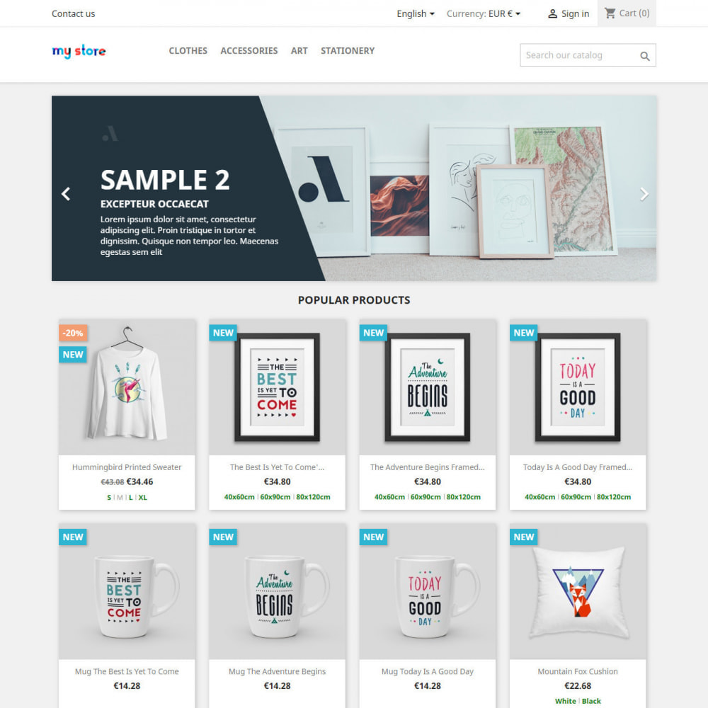 module - Combinations & Product Customization - Product attributes / combinations in category - 2