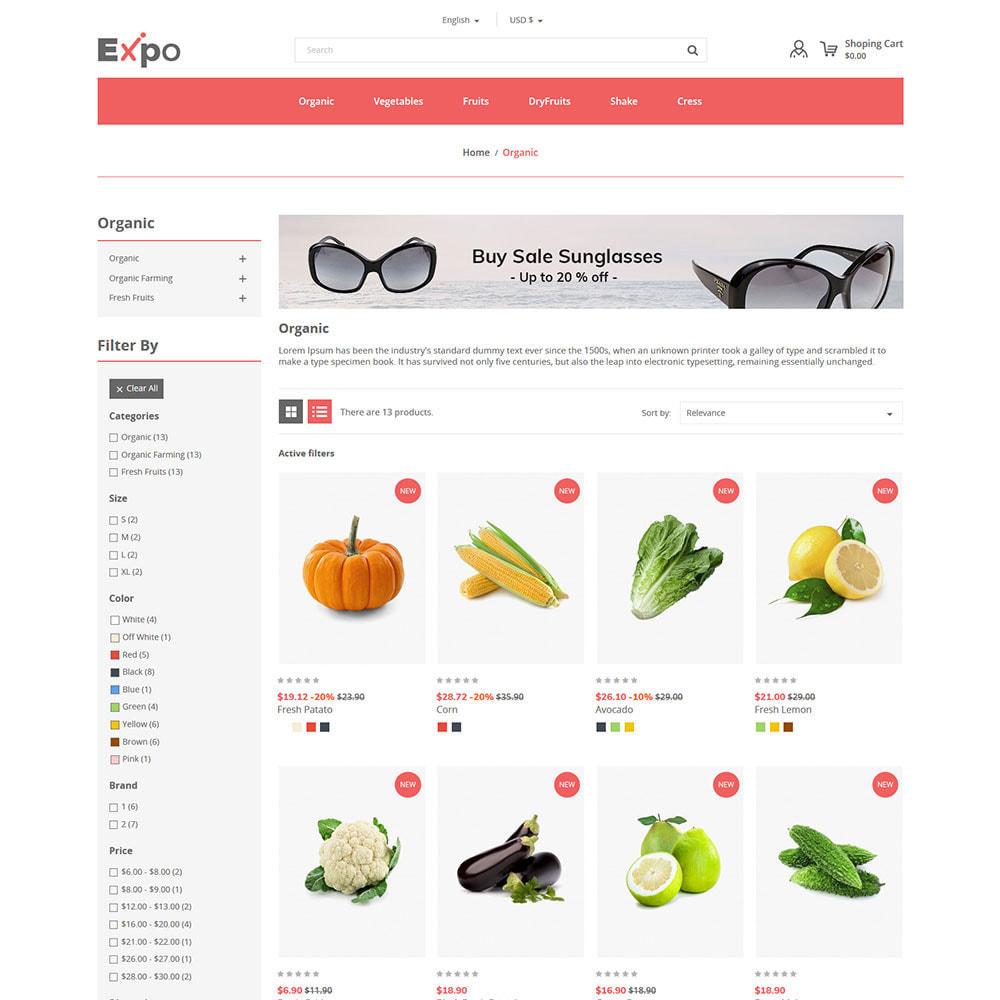 theme - Alimentation & Restauration - Restaurant - Magasin de légumes bio - 4