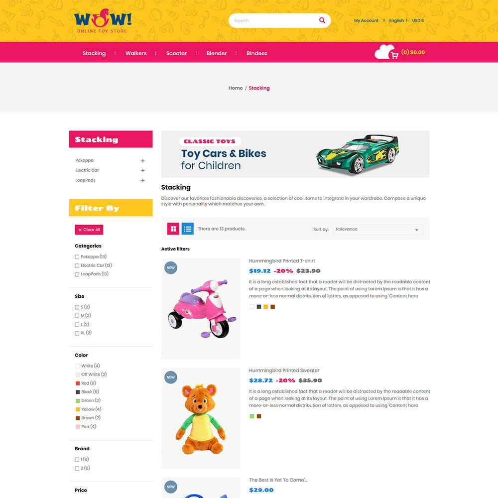 theme - Дети и Игрушки - Wow Kids - Магазин игрушек для детских игрушек - 5
