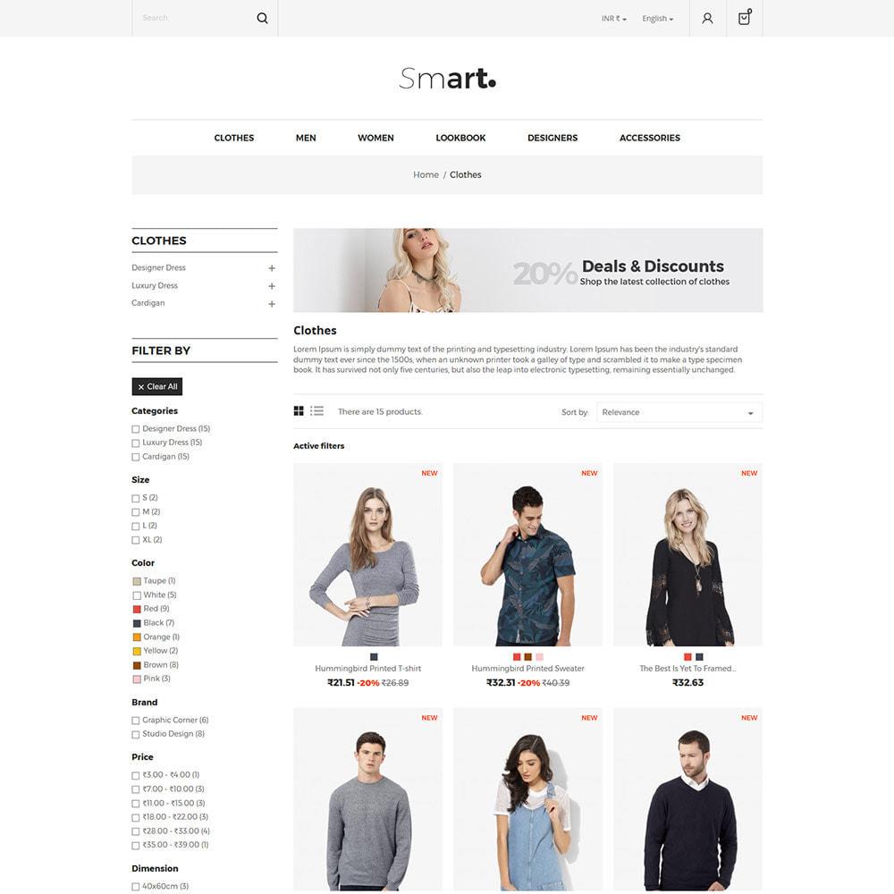 theme - Mode & Chaussures - Smart Bag - Magasin de vêtements de mode - 5