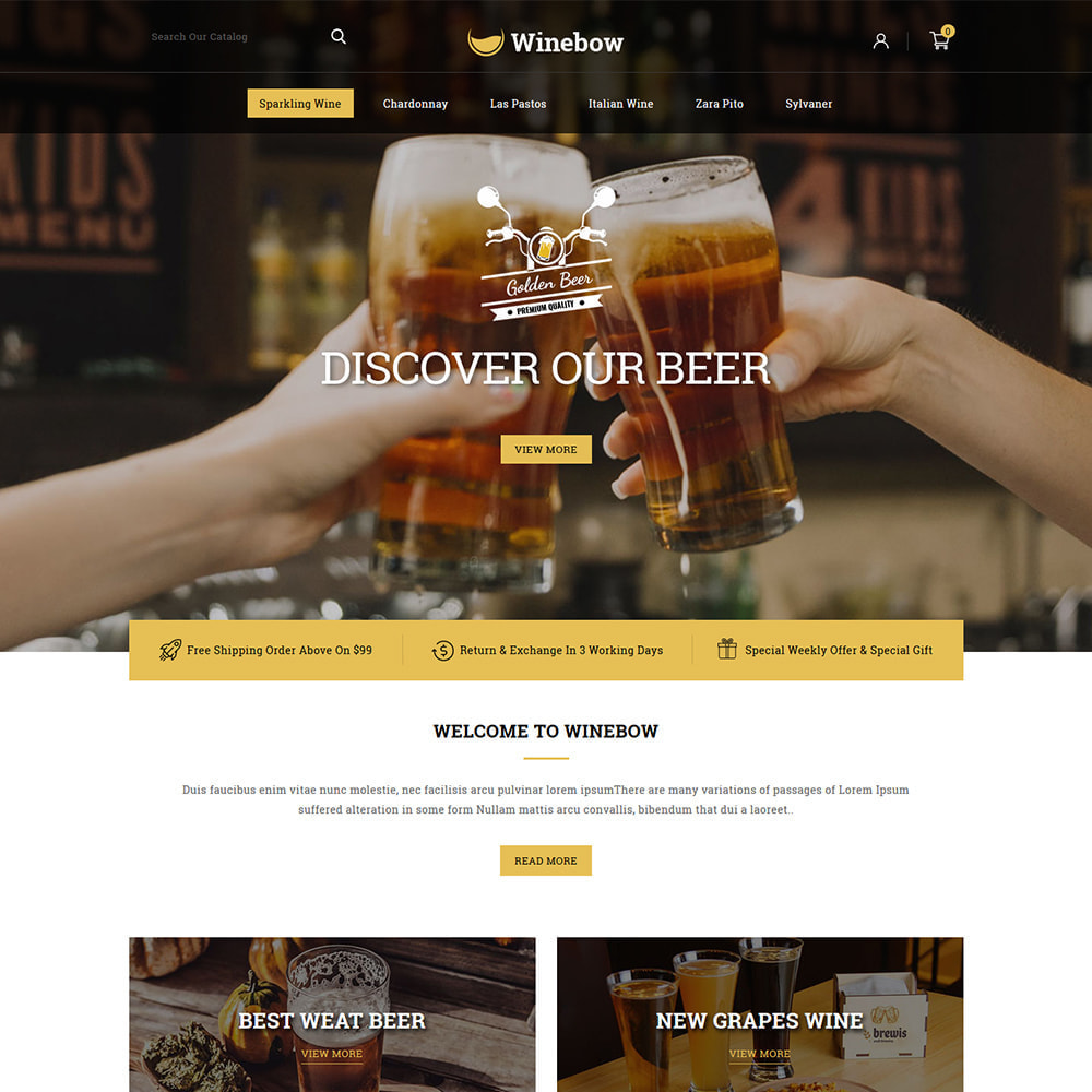theme - Bebidas & Tabaco - Winebow - Liquor Shop - 2