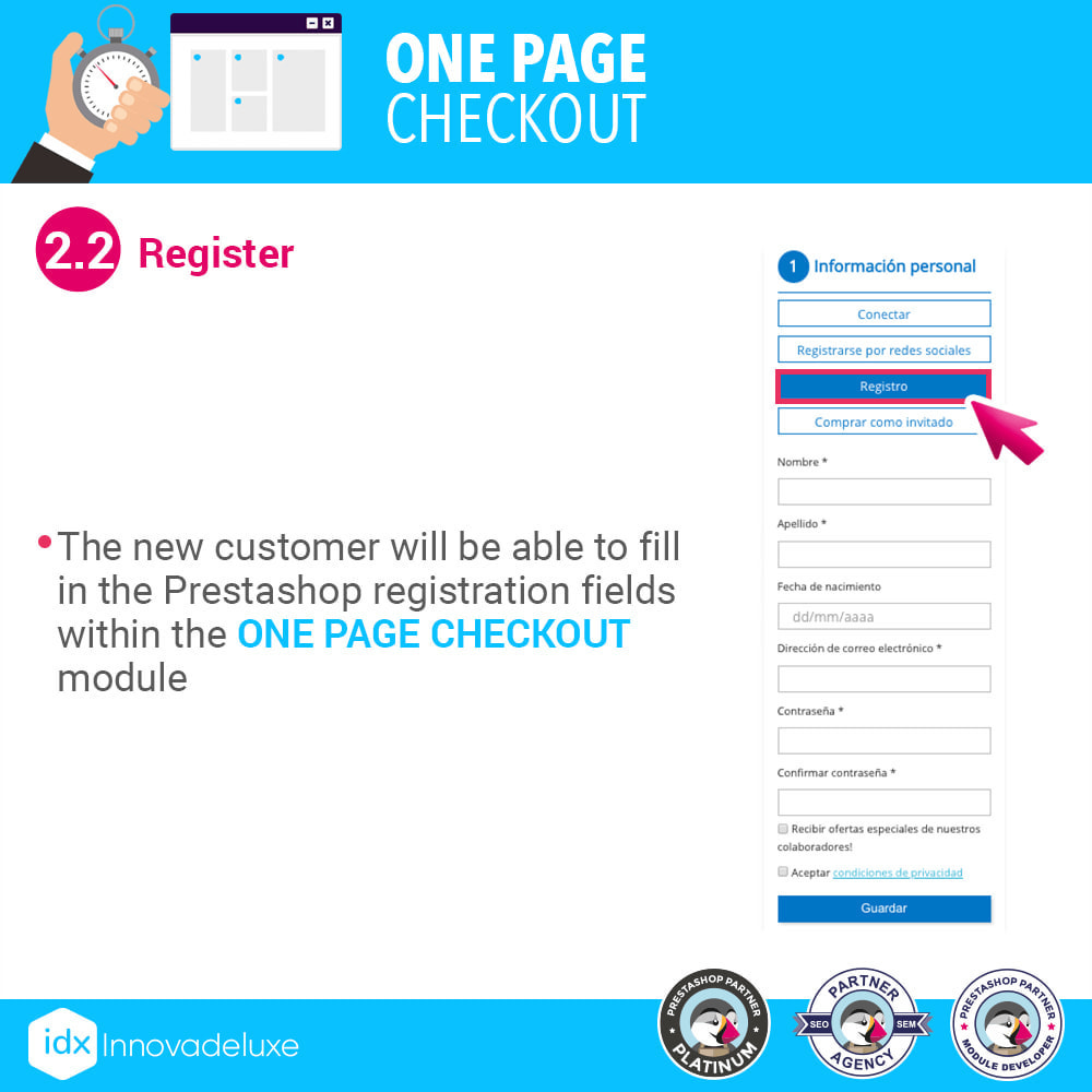 module - Processo de pedido - One page checkout - Fast purchase process - 5
