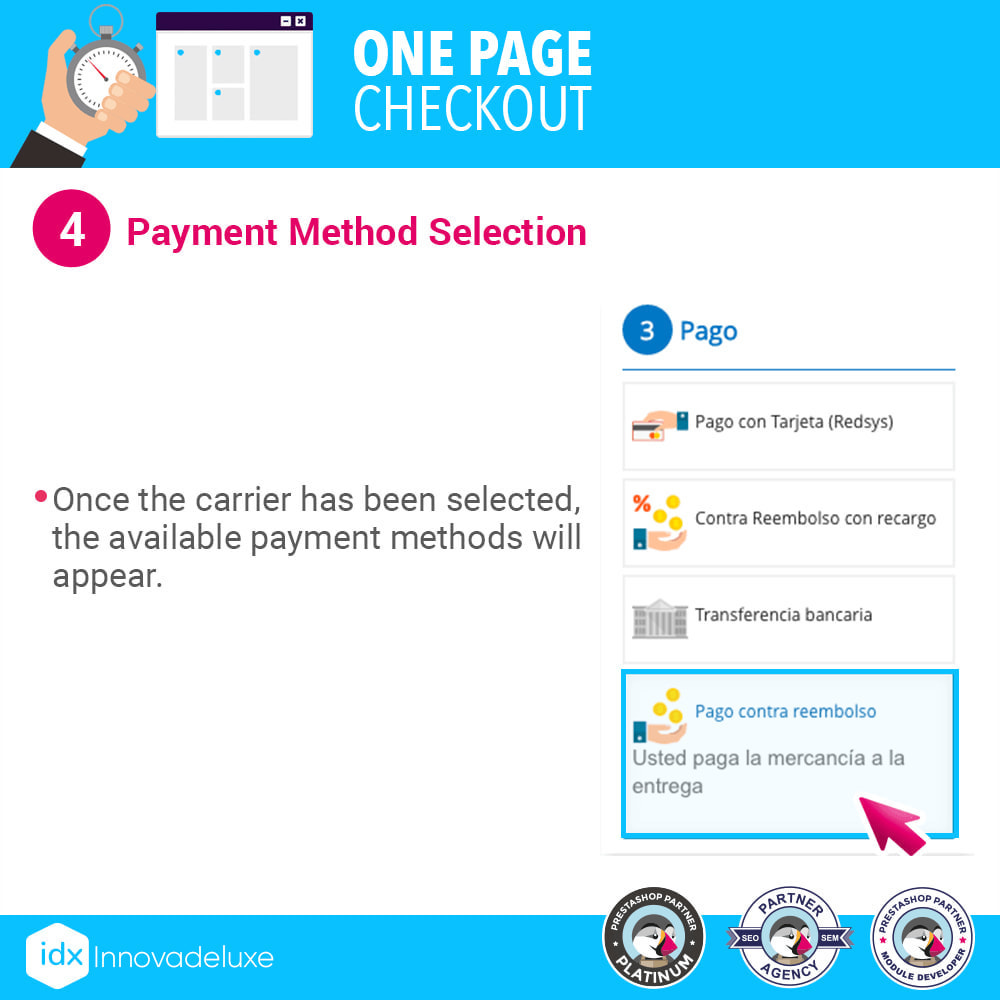 module - Processo de pedido - One page checkout - Fast purchase process - 10