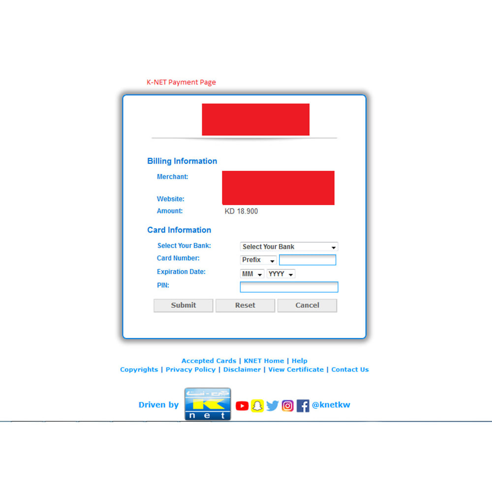 module - Payment by Invoice - K-Net Payment - Kuwait's Leading Online Service - 7