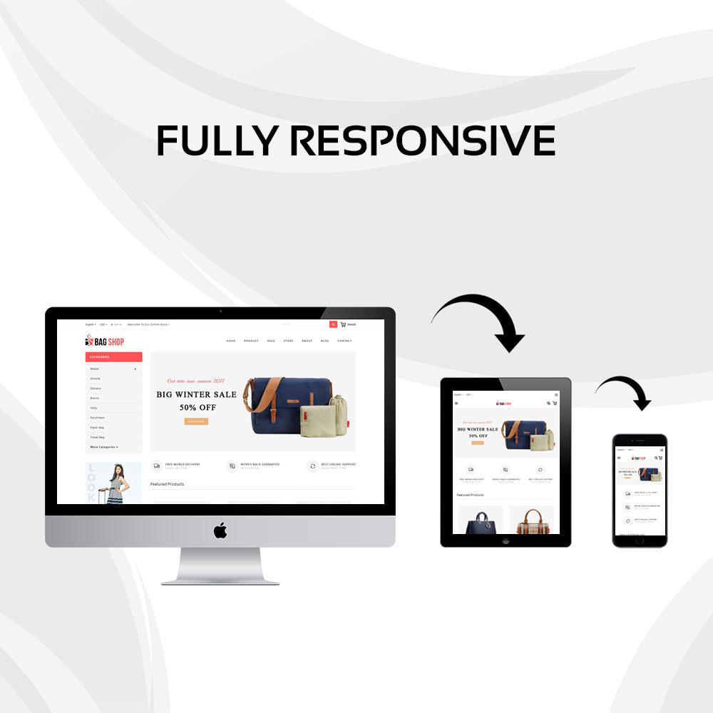 theme - Fashion & Shoes - Bag Store - 2
