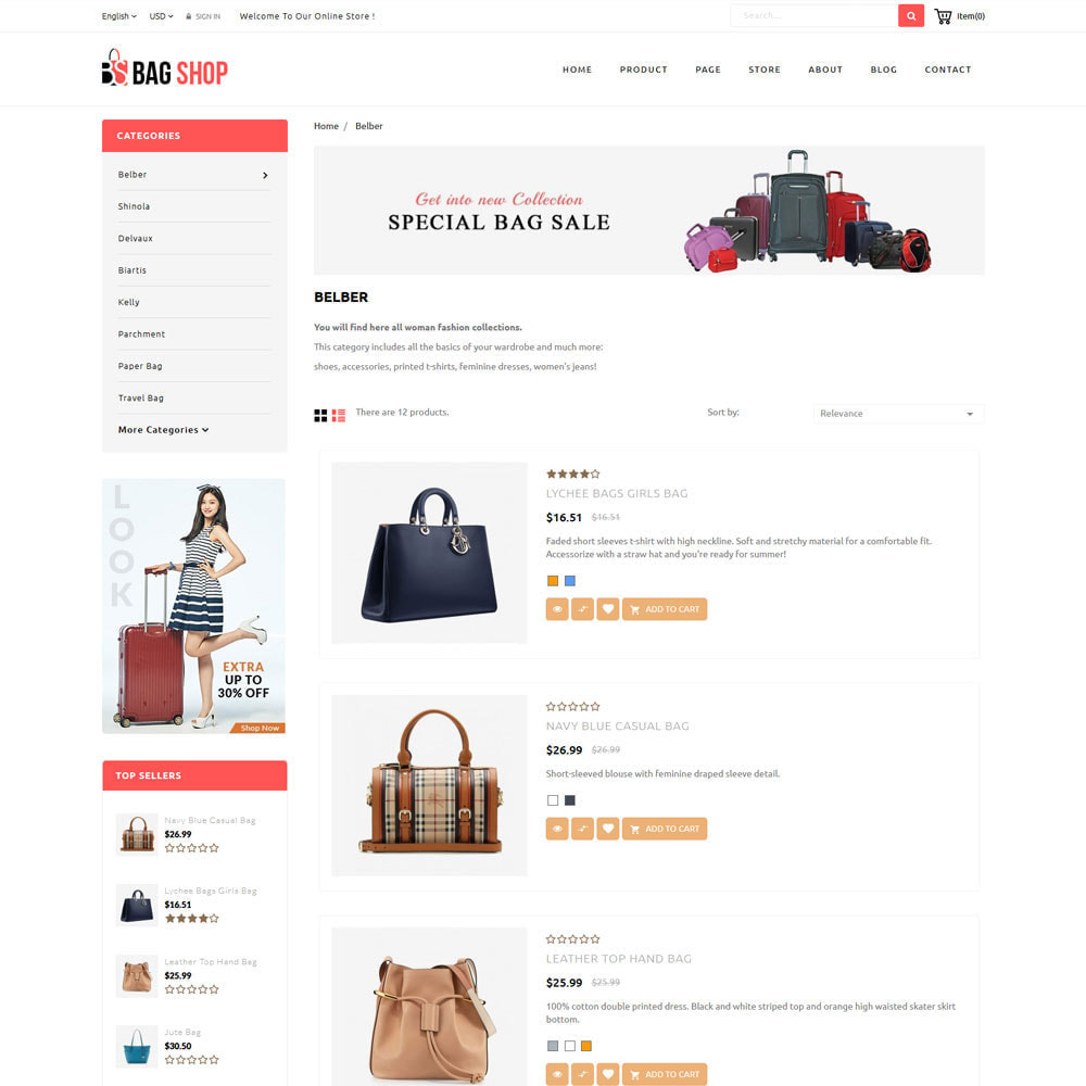 theme - Fashion & Shoes - Bag Store - 5
