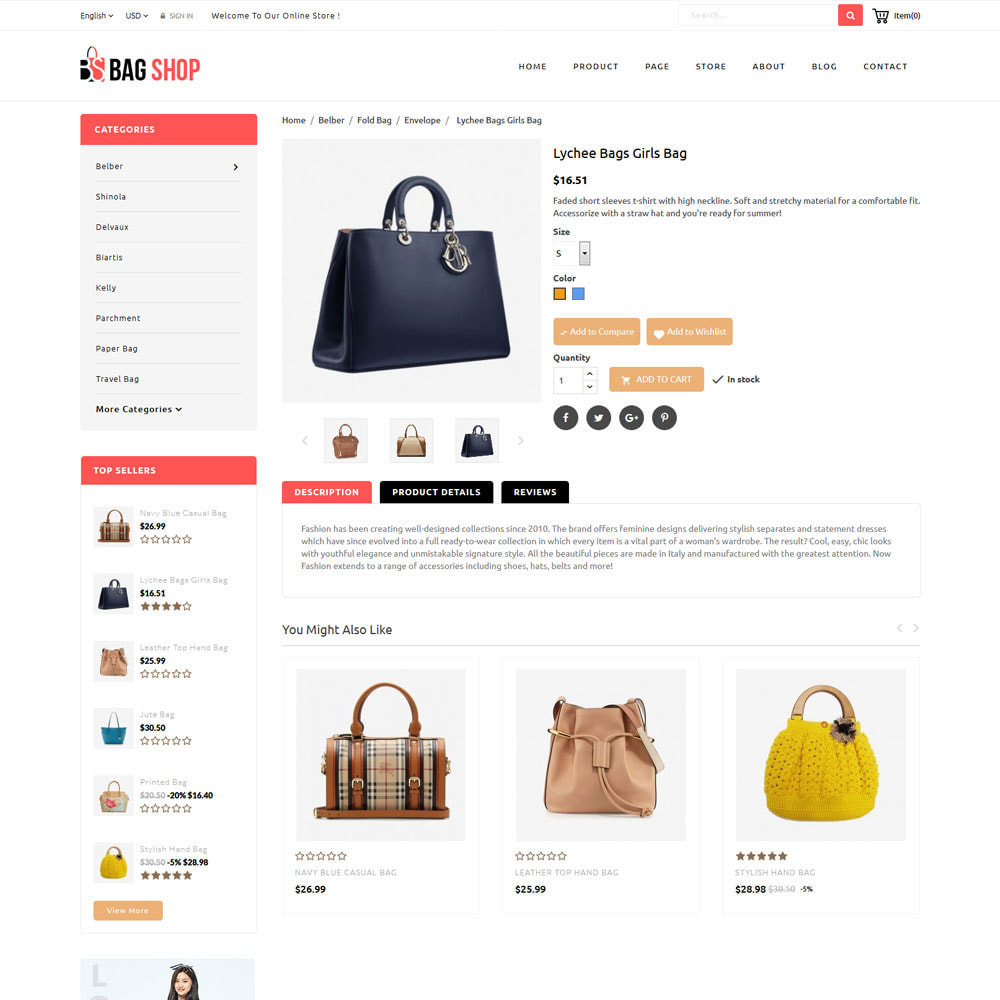 theme - Fashion & Shoes - Bag Store - 6