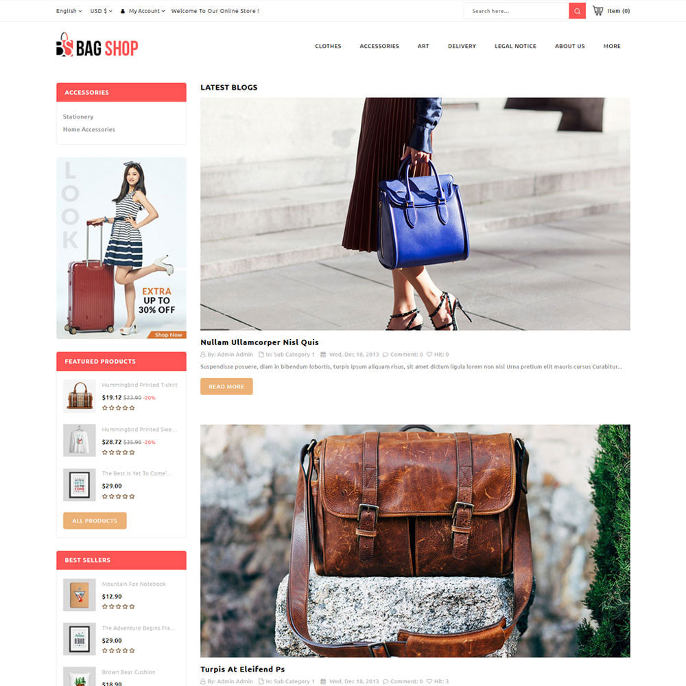 theme - Fashion & Shoes - Bag Store - 7