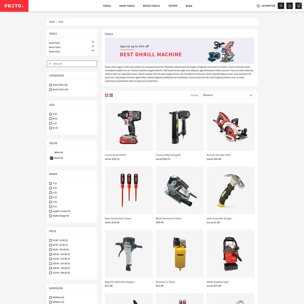 theme - Automotive & Cars - Proto Tools & Parts Shop - 3