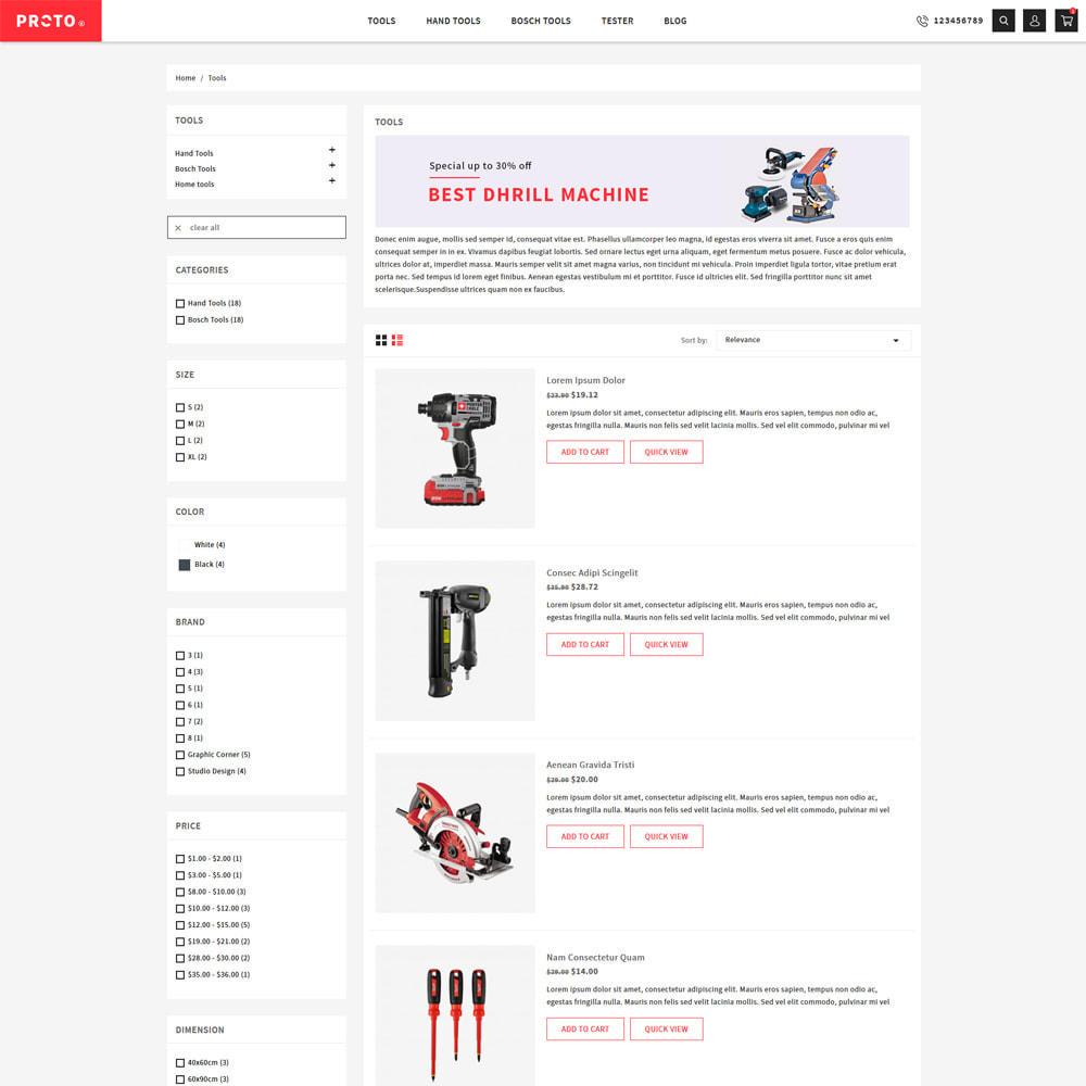 theme - Automotive & Cars - Proto Tools & Parts Shop - 4