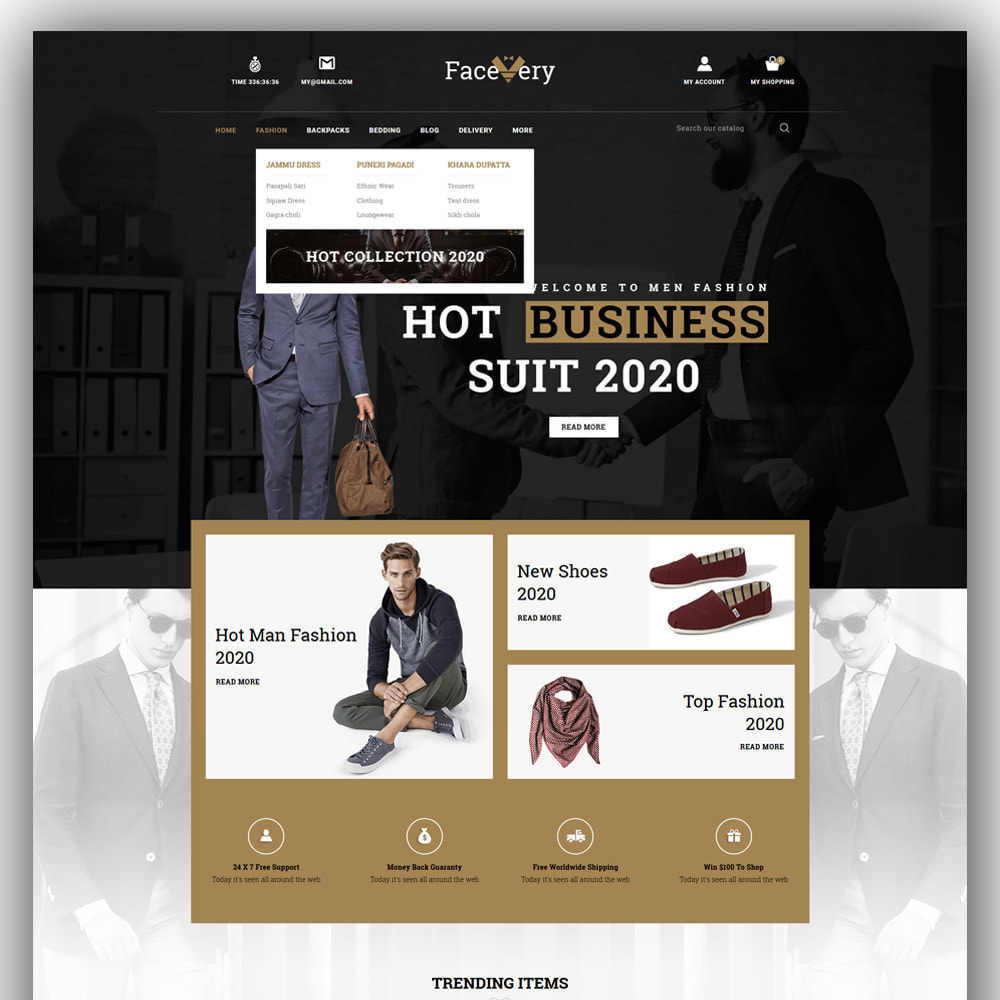 theme - Mode & Schuhe - Facevery - Men's Store - 2