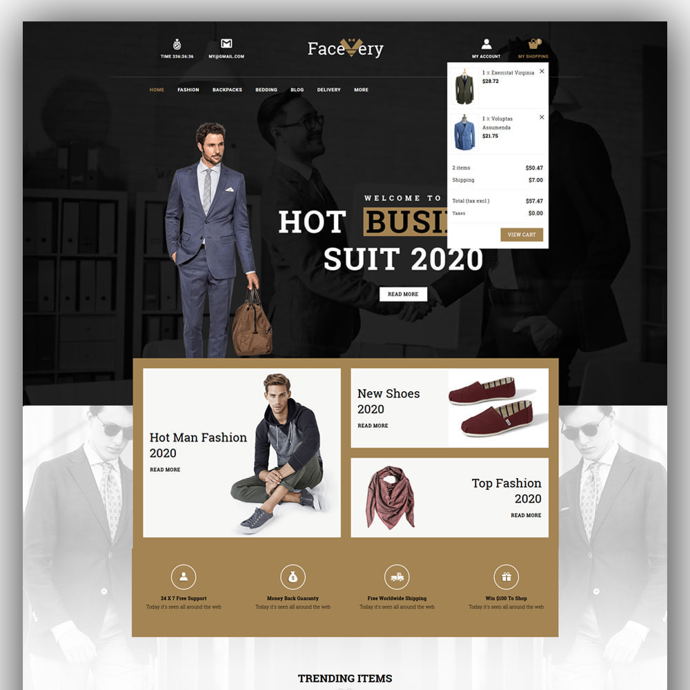 theme - Мода и обувь - Facevery - Men's Store - 3