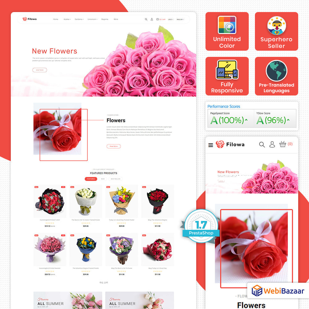 theme - Gifts, Flowers & Celebrations - Filowa - Flower Store - 1