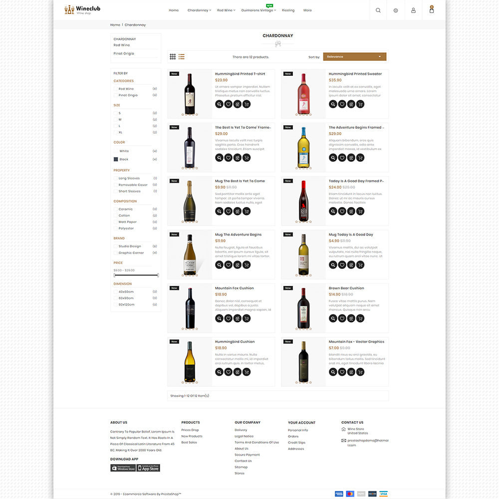 theme - Bebidas & Tabaco - WineClub - Wine - Drinks & Bar - 7