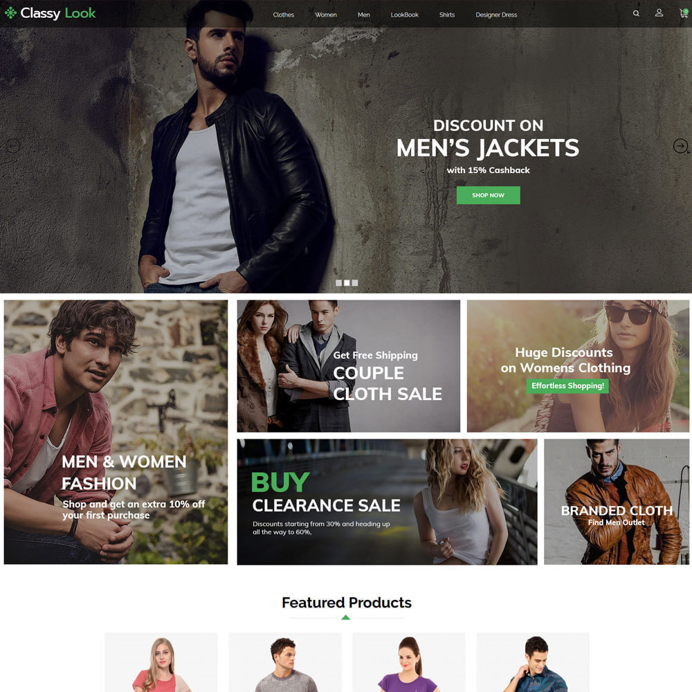 theme - Fashion & Shoes - Classy Loook - Fashion Clothes - 2