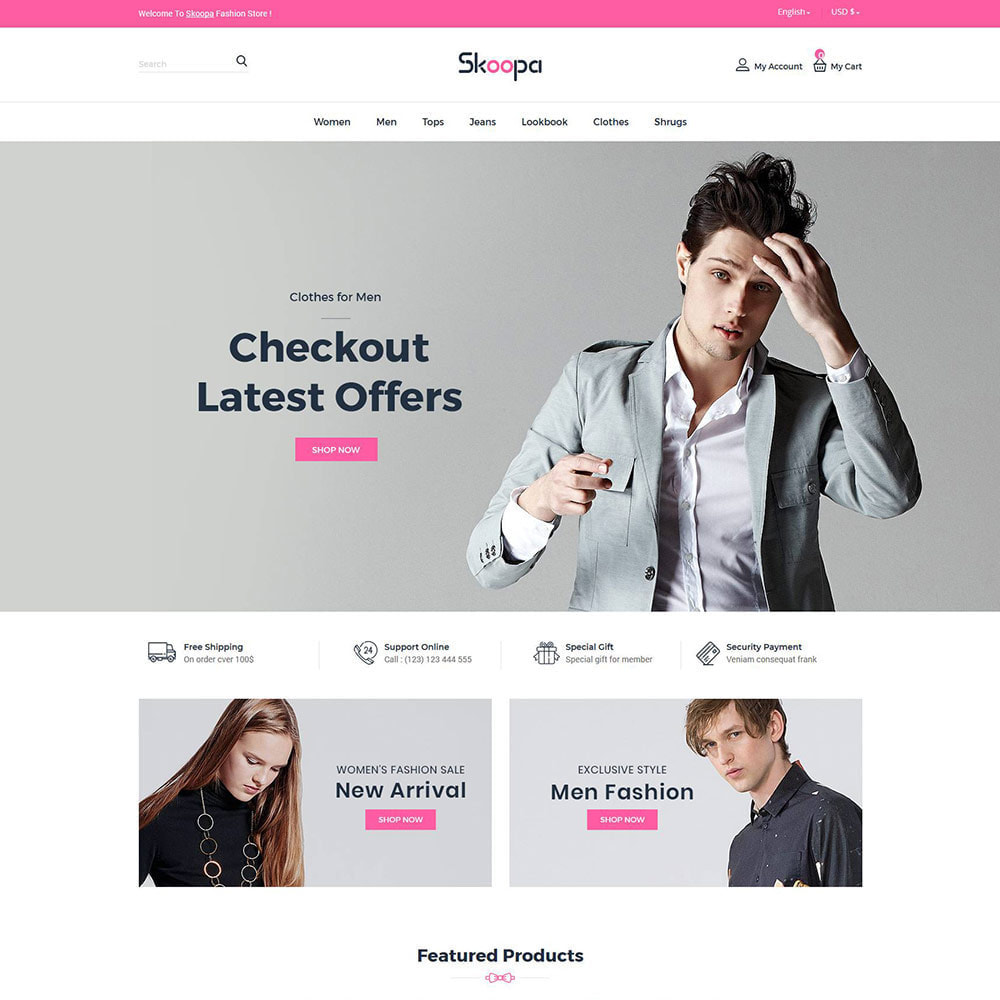theme - Fashion & Shoes - Skoopa  Fashion - Designer  Accessories Store - 1