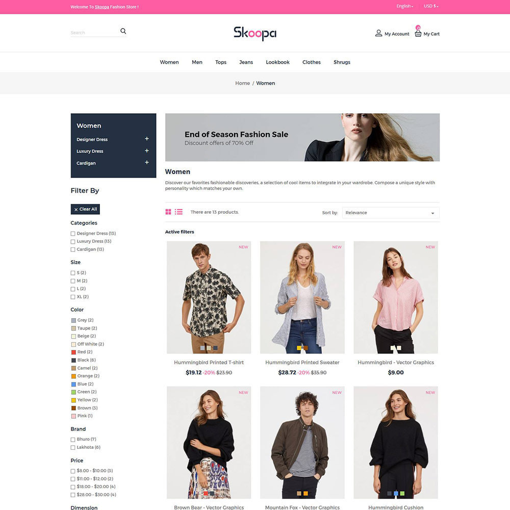 theme - Fashion & Shoes - Skoopa  Fashion - Designer  Accessories Store - 2