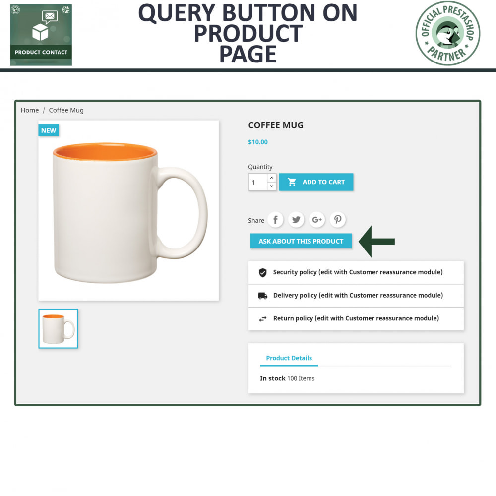 module - Contactformulier & Enquêtes - Product Contact - Enquiry Form - 2