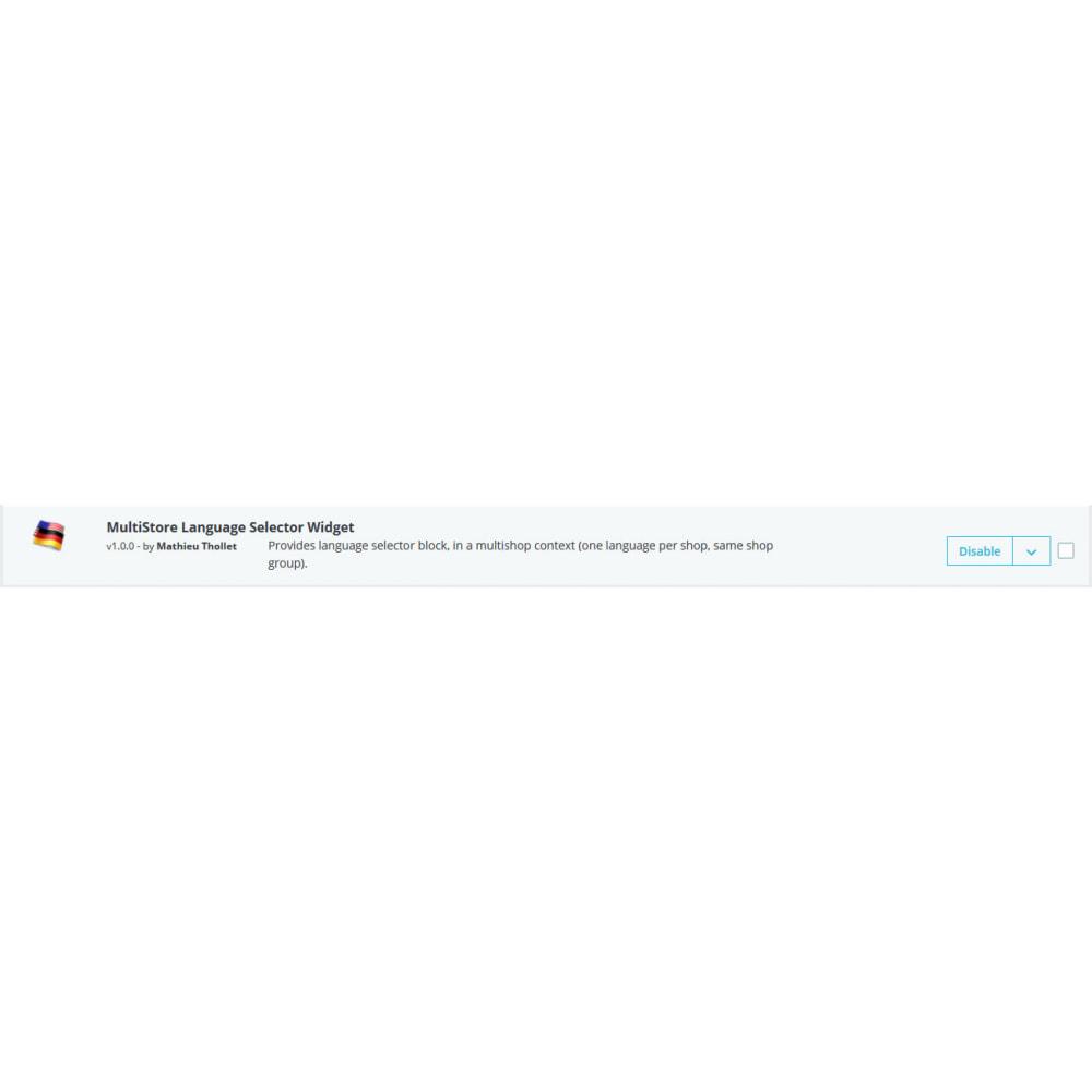 module - International & Localisation - Sélecteur de langue multi boutique widget - 1