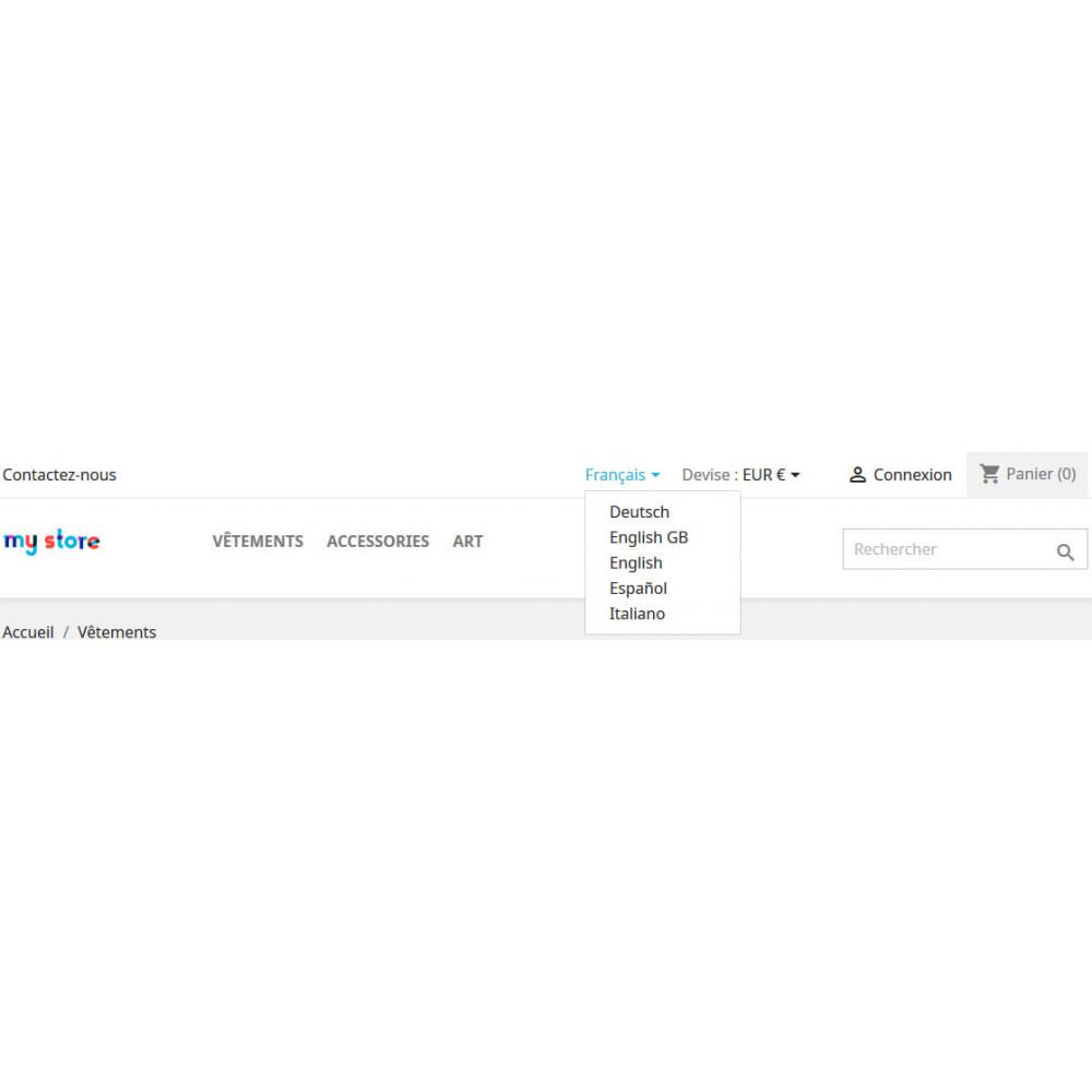 module - International & Localisation - Sélecteur de langue multi boutique widget - 3