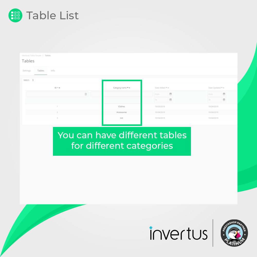 module - Bundels & Personalisierung - Attribute Table Simple - 7
