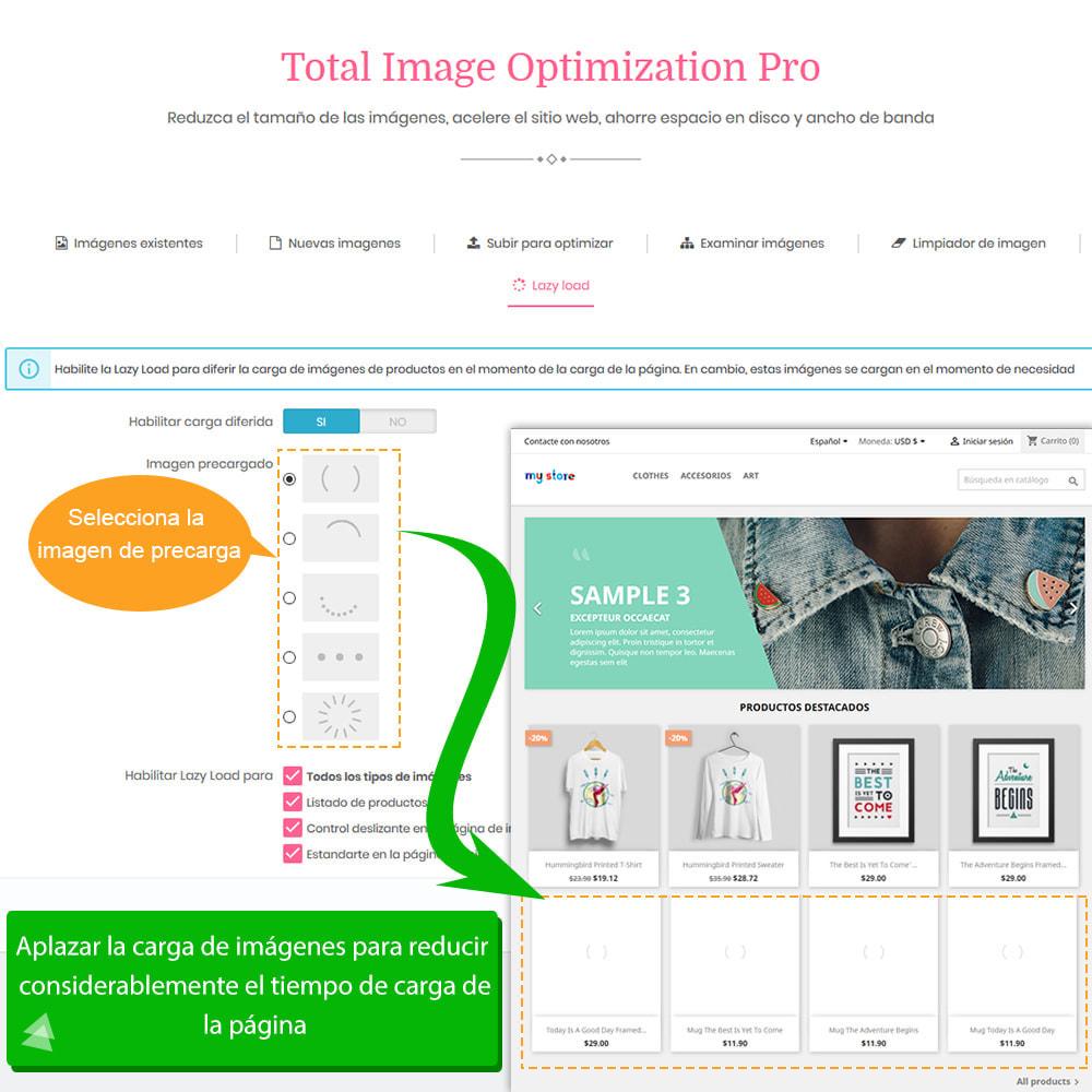 module - Rendimiento del sitio web - Total Image Optimization Pro - Compresión sin pérdida - 10