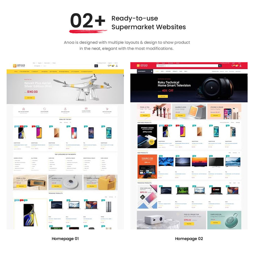 theme - Электроника и компьютеры - Anoa - Powerful Suppermarket and Digital Store - 2