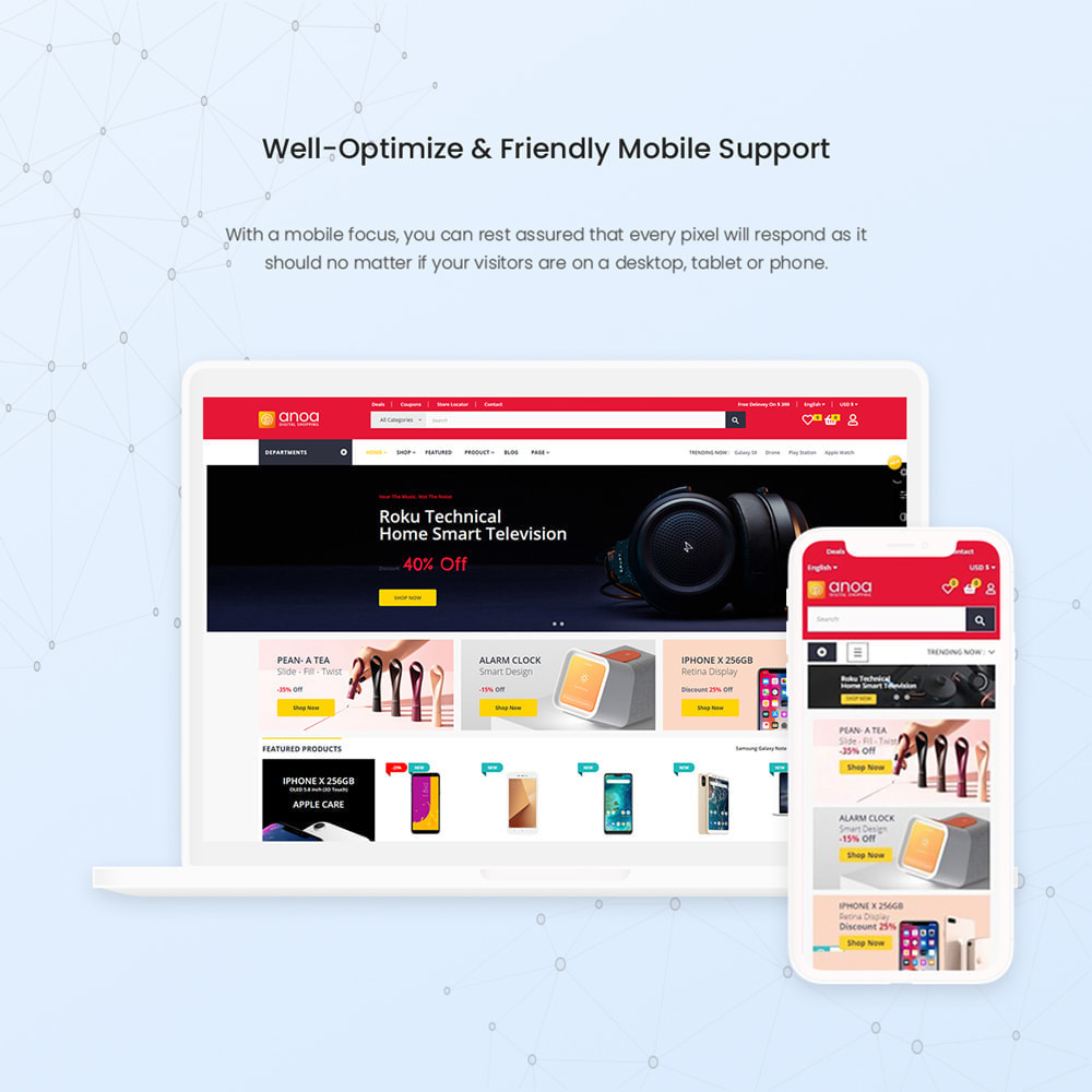 theme - Электроника и компьютеры - Anoa - Powerful Suppermarket and Digital Store - 3