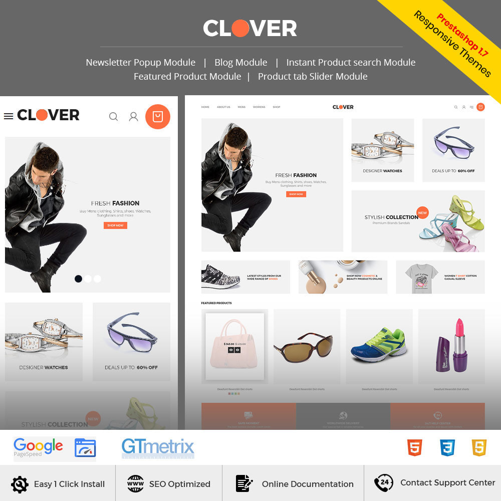 theme - Fashion & Shoes - Clover  Bag - Fashion Cloth Designer Store - 1