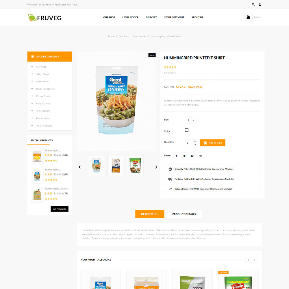 theme - Food & Restaurant - Fruveg - The Grocery Store - 6