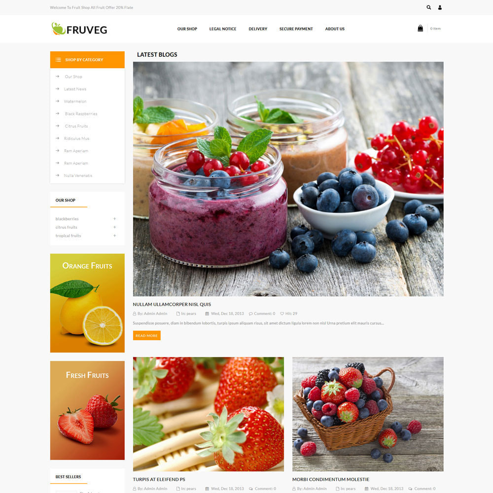 theme - Food & Restaurant - Fruveg - The Grocery Store - 7
