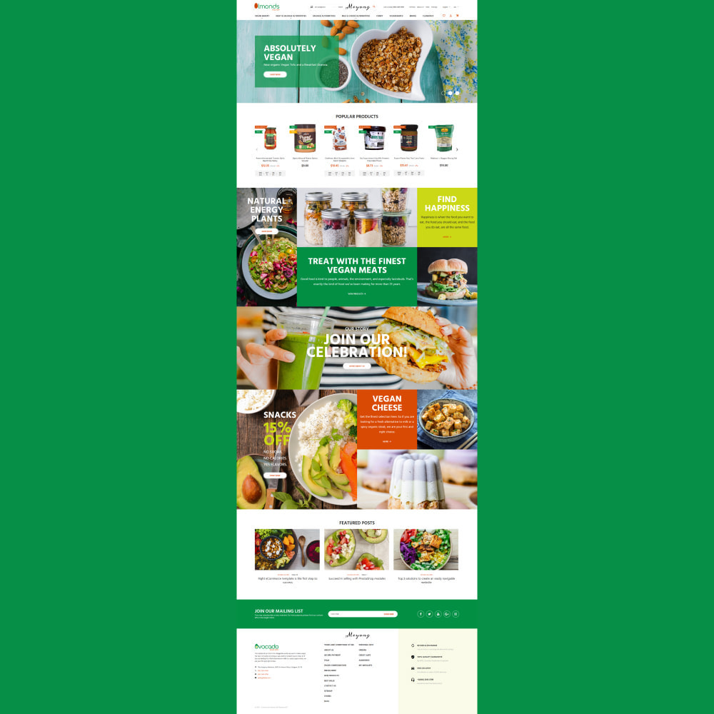 theme - Lebensmittel & Restaurants - Almonds - Vegan Shop - 2