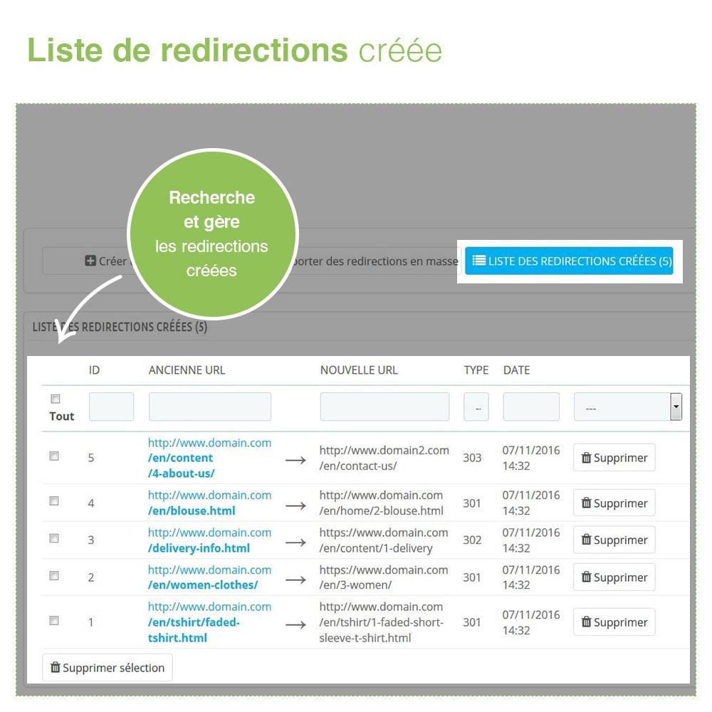 module - URL & Redirections - Redirections 301, 302, 303 des URLs et 404 - SEO - 4