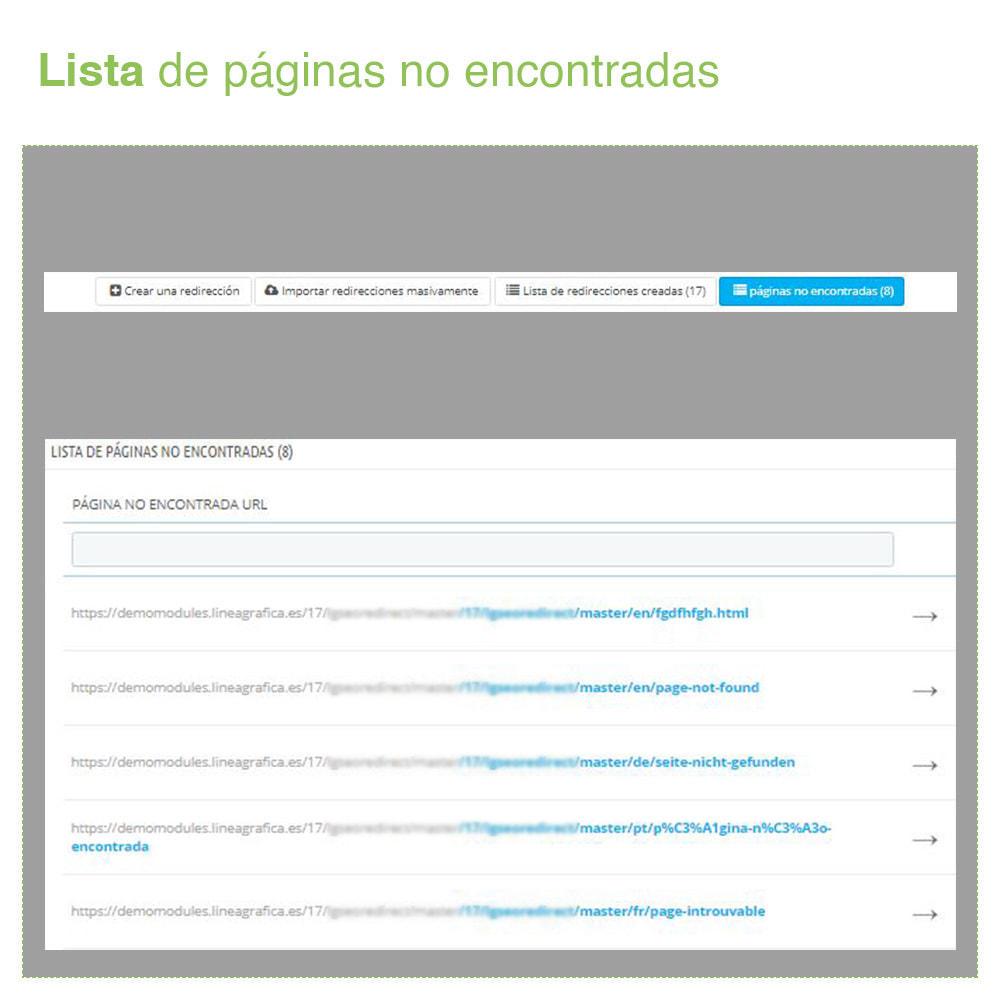 module - URL y Redirecciones - Redirecciones 301, 302, 303 de URLs y 404 - SEO - 6