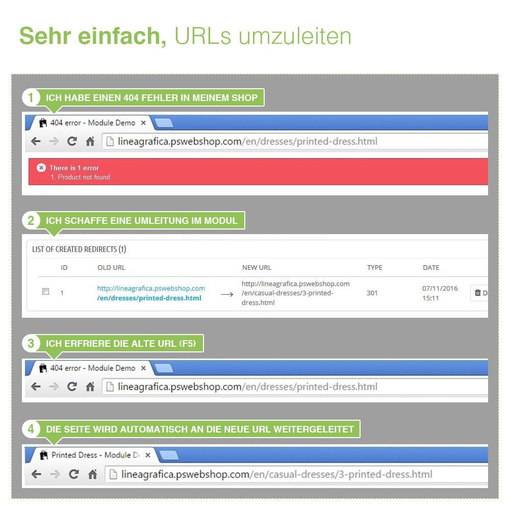 module - URL & Redirects - 301, 302 und 303 URL Weiterleitungen und 404 - SEO - 8