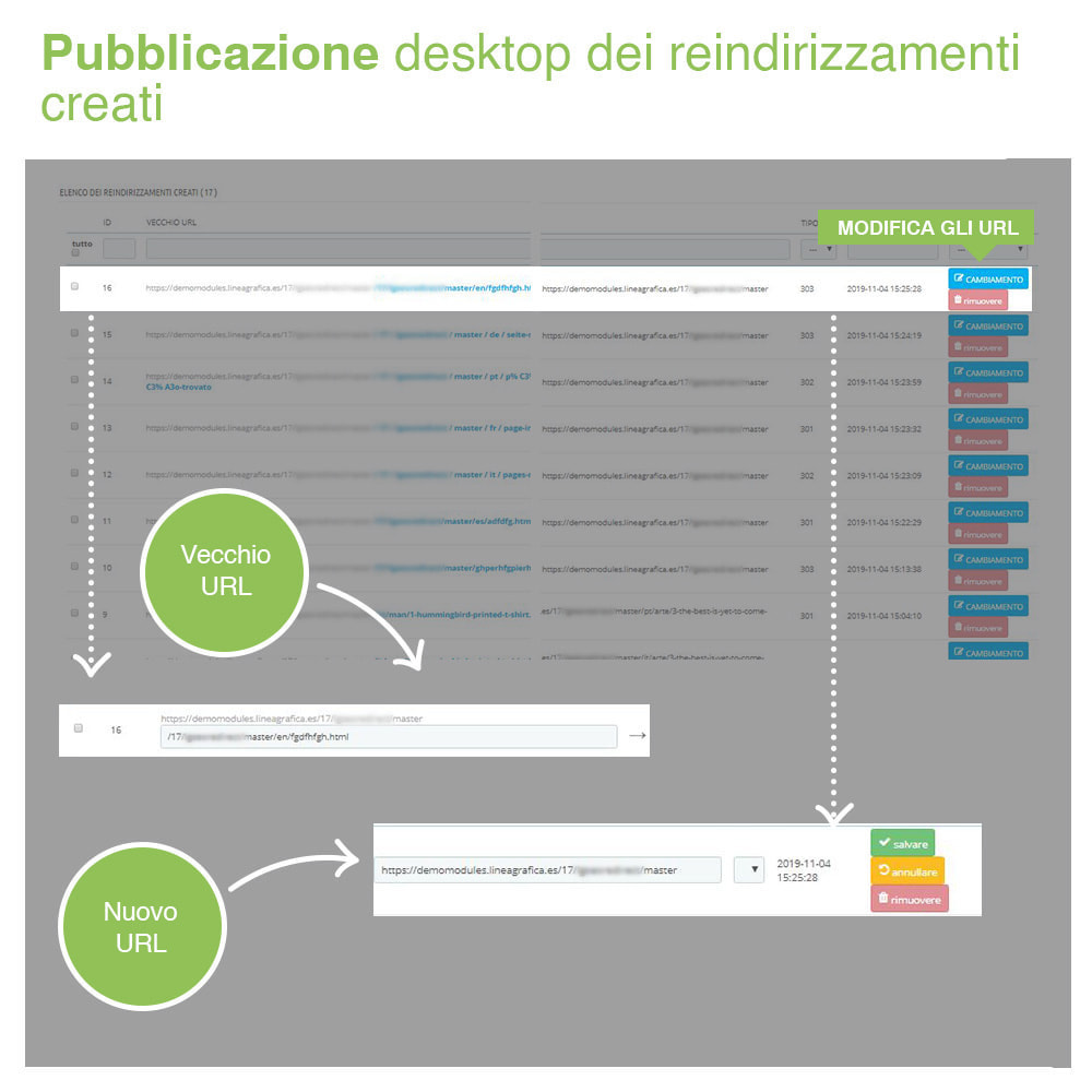 module - URL & Redirect - Reindirizzamenti, Redirect 301, 302, 303, 404 URL - SEO - 5